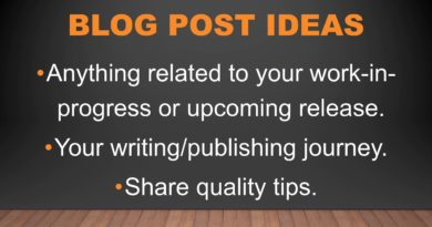 Blogging for Writers: A PowerPoint Presentation