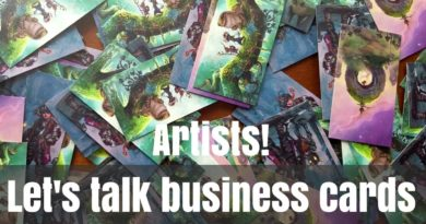 Business Card Tips for Artists | Awkward Artist Confessions | Artist Vlog #7