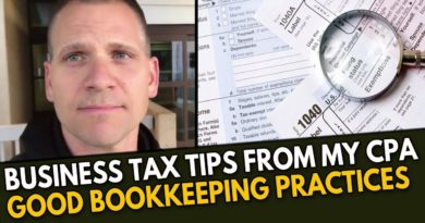 Business TAX TIPS from my CPA, Why Good Bookkeeping is Important & What to do with Surplus Inventory