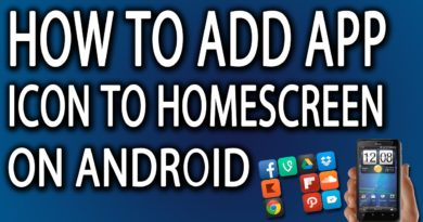 How To Add App Icon To Homescreen On Android Phone