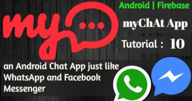 One to One Chat Application in Android | Firebase - myChAt App - 10 AppBarLayout and ViewPager