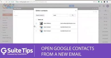 Using Google Contacts in the Gmail Compose Window / G Suite Tips