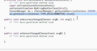 Android Application Development Tutorial - 126 - Setting up Sensor Manager
