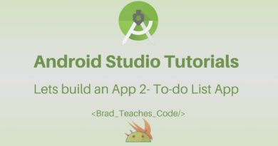 Android Studio Tutorial - Lets build an App 2- To-do List App