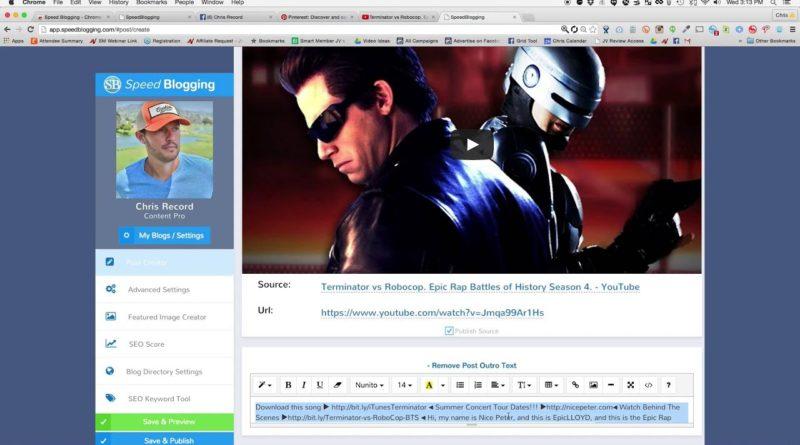 Best Wordpress Software / Blogging Software / Speed Blogging