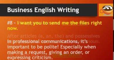 Business English - Writing Tips