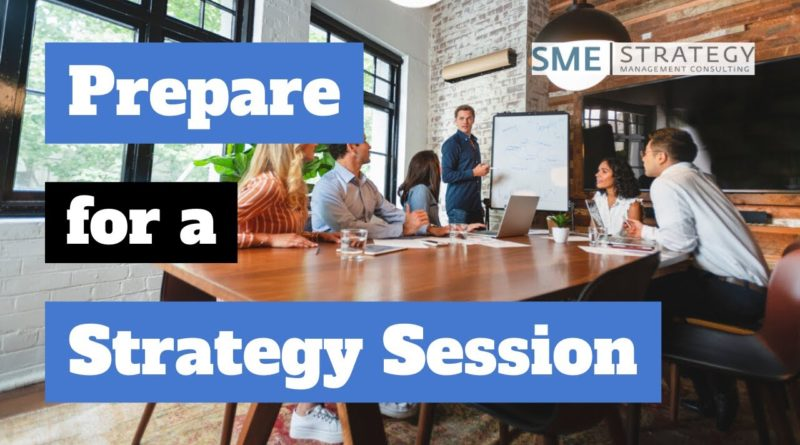 How to prepare for your strategic planning meeting.