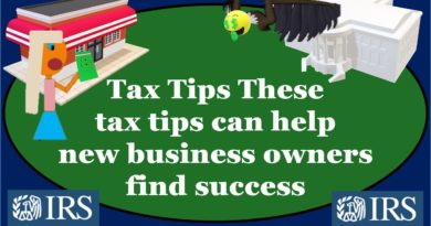 IRS Tax Tips-These tax tips can help new business owners find success
