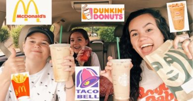 Letting the Person IN FRONT of me decide what I EAT! / DRIVE THRU CHALLENGE
