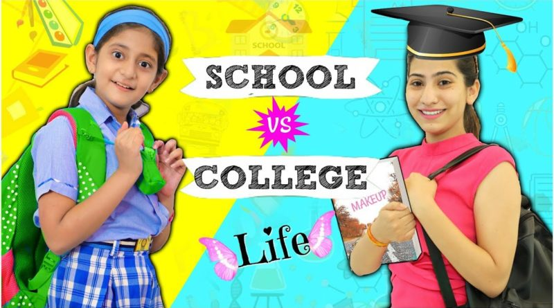 STUDENT LIFE - School vs College ...  #Fun #Sketch #RolePlay #Anaysa #MyMissAnand