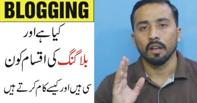 What is Bloggingand its Different Types | Explained in Detail In Urdu Hindi Tuorial
