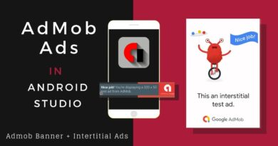 Create Admob Ads In Android Studio | Android App Development Tutorial