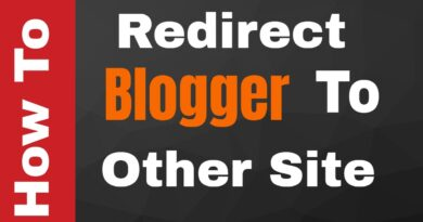 How to Redirect Blogger to Another Site or Blog