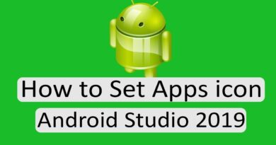 How to set app icon in android studio 2019, Create app icons with Image Asset Android Studio