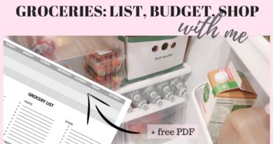 MEAL PLANNING AND GROCERY SHOPPING + tips & free PDF!