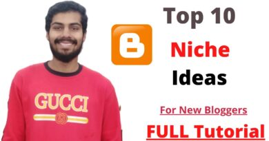 Niche blog ideas 2020: Top 10 Niche ideas to start Blogging with less content(Best Blog Topics)