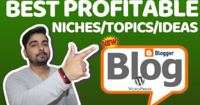 Top 14 Best PROFITABLE Niches/Topics/Ideas For Blogging!!