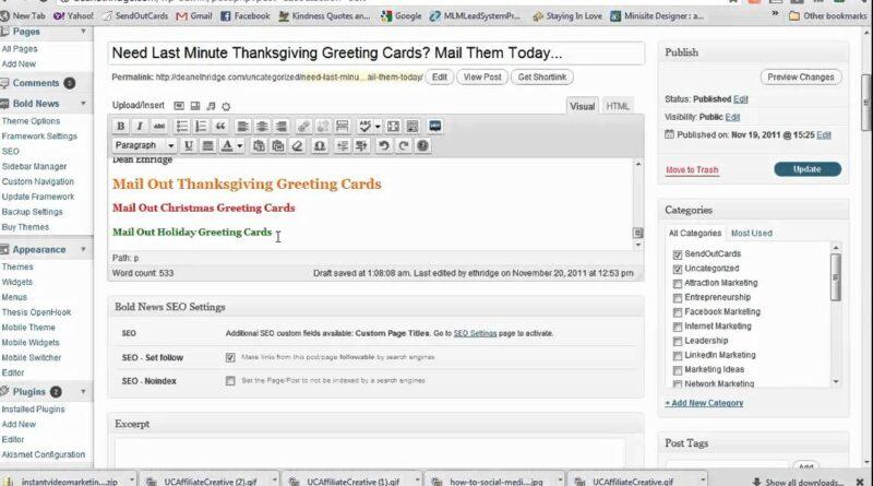 Video 1120 Blogging for Dummies SEO for Wordpress Blogging Tips