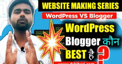 WordPress VS Blogger | Best Blogging Platform | WordPress VS Blogger Comparison | Hindi