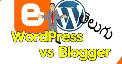 WordPress vs Blogger ? | Best blogging platform | Guide in Telugu