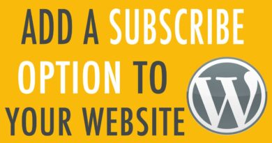 ✏️ Add a Subscribe Option to Your WordPress Website
