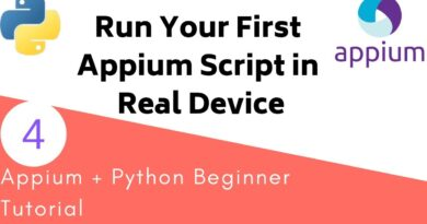 Appium Python Tutorial - How to run Python Appium script in Real Android Device
