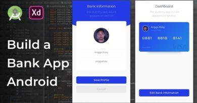 Bank App Adobe Xd to Android Studio Tutorial