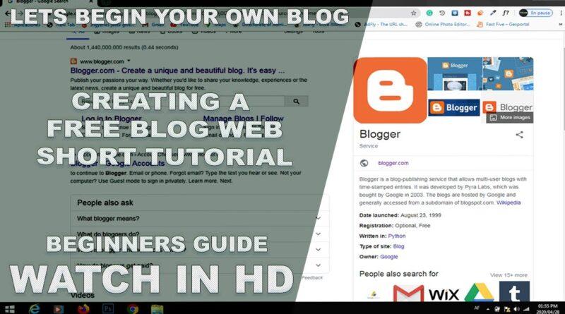 Establishing a Free Blogger Website | Create a Google Blogger | Blogging for Beginners | HD