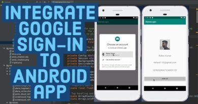 How to Integrate Google Sign In Your Android App using Android Studio