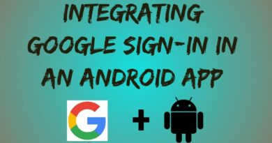 How to integrate Google sign-in in an android application