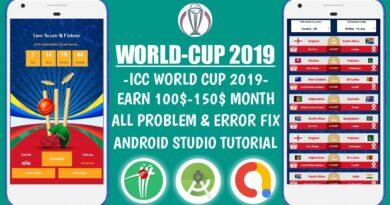 ICC World Cup 2019 App Source Code | Android Studio Tutorial #06