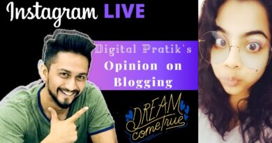 Is blogging really dead? Watch Digital Pratik's Reply | Instagram Live | Sampriti Roy