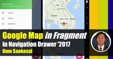 Latest Android App Development: Google Map in Fragment in Navigation Drawer, SupportMapFragment
