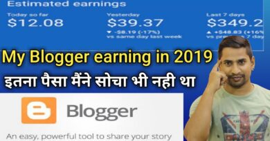 My Blogger Earning $1285 In 1 Month || How To Make Money With Blogger And Adsense 2019