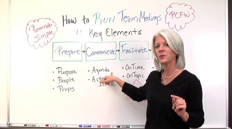 Project Management: How to Run Team Meetings