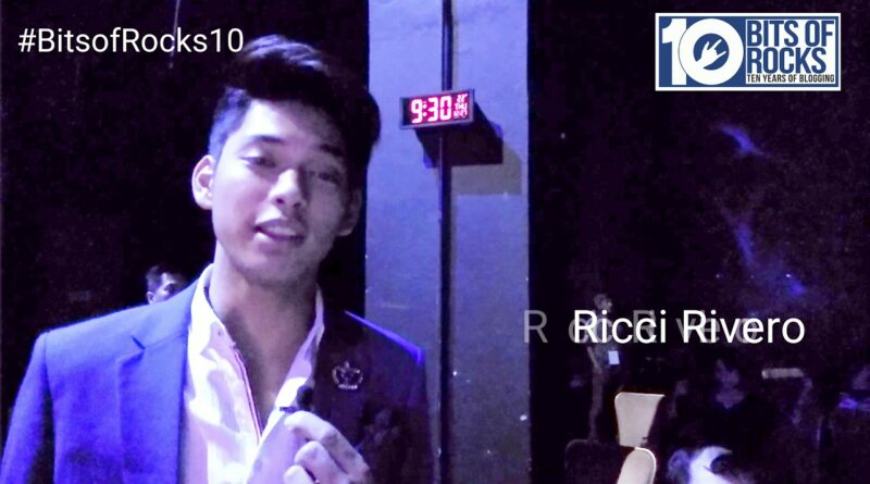 Ricci Rivero for Bits of Rocks' 10TH Year Blog Anniversary
