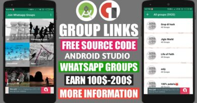 WhatsApp Group Links App Source Code   Android Studio Project Code