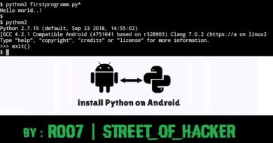How to install and run python scripts on android | STREET_OF_HACKER | R007
