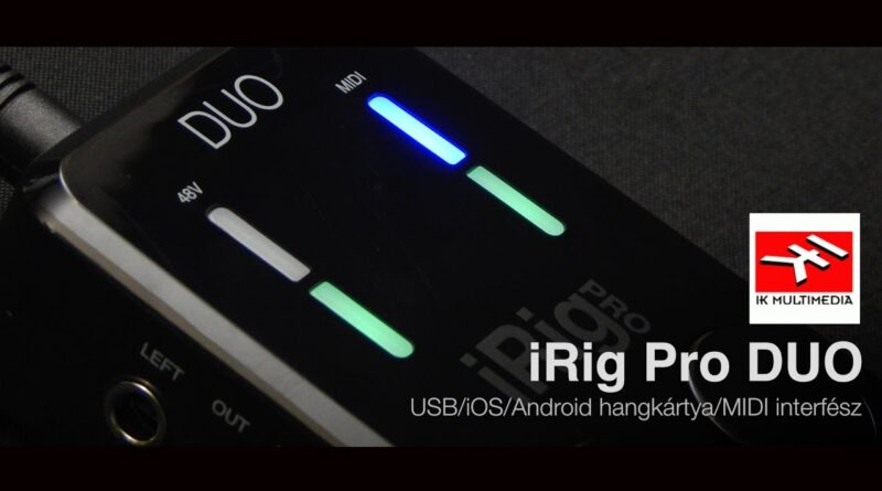 IK Multimedia iRig Pro DUO USB/iOS/Android hangkártya/MIDI interfész