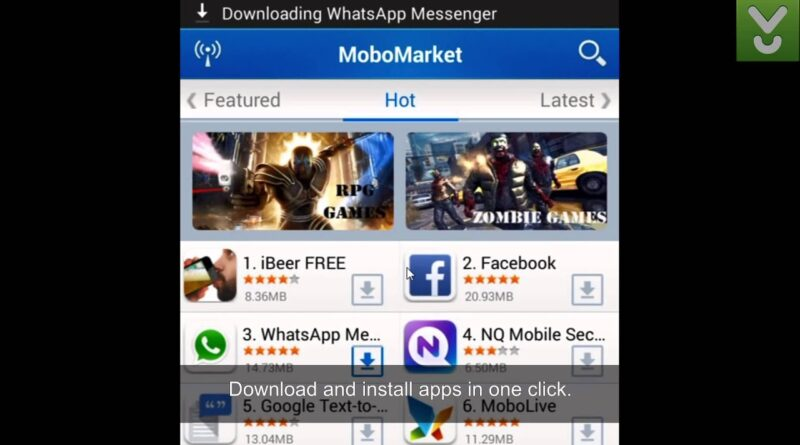 MoboMarket - Have a one-stop application store for your Android - Download Video Previews