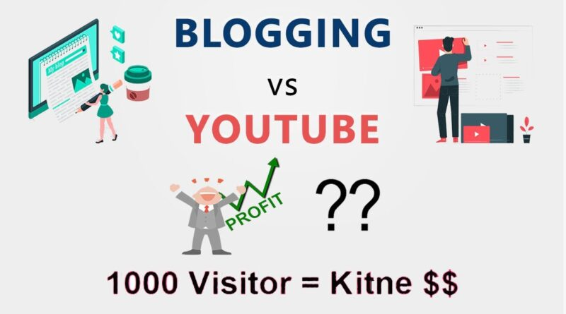Running a blog Vs YouTube | Which Is Extra Worthwhile | Hindi