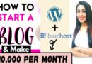 Begin A Weblog And Make Cash $10,000 in India Running a blog on WordPress and Bluehost