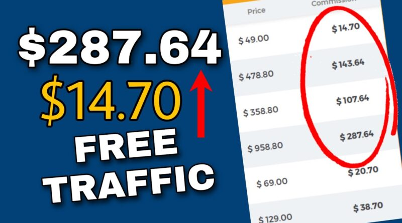Make $14.70 to $287.64 monthly with affiliate marketing online utilizing free visitors 5