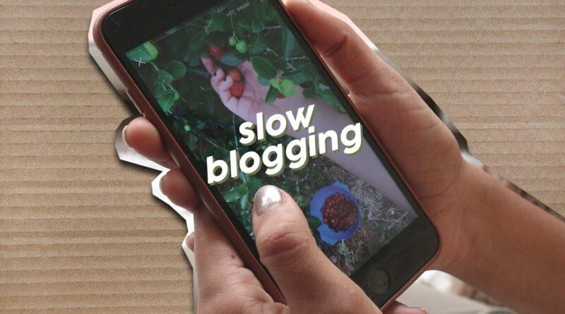 SLOW BLOGGING - A INTERNET NA VELOCIDADE DA VIDA 5