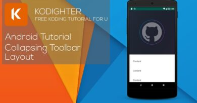 Android Studio Tutorial - Collapsing Toolbar Layout
