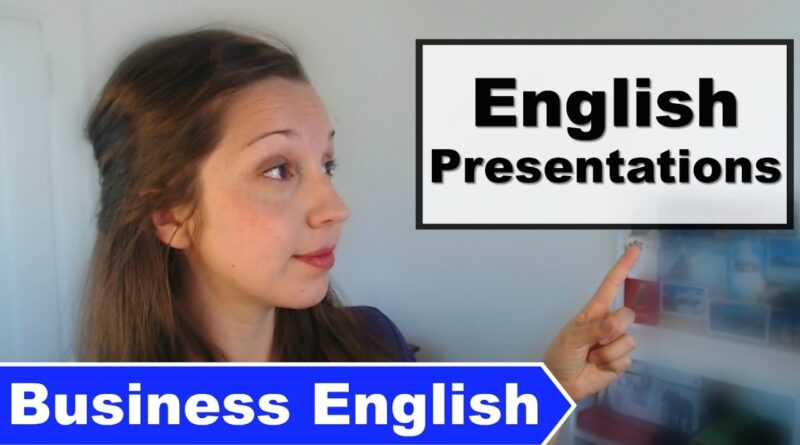 Business English: 3 Presentation Expressions [Advanced Professional English]