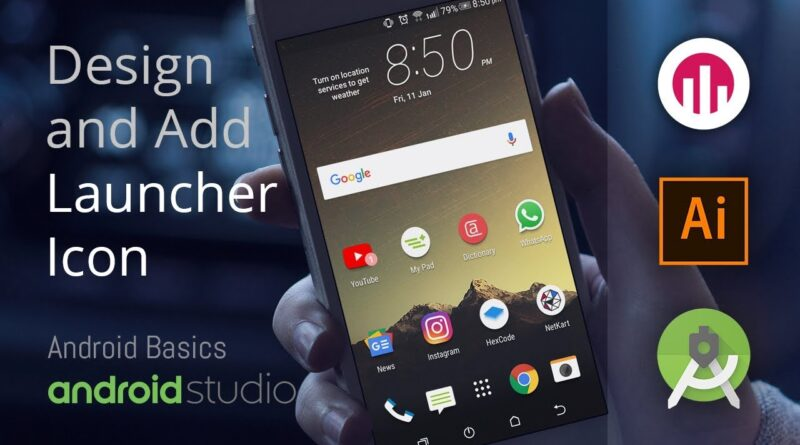 Designing and Adding Launcher Icon | Android Studio Basics | Android | Illustrator