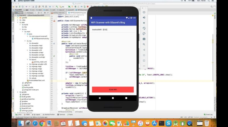 Develop a WiFi Scanner Android Application with Android Studio