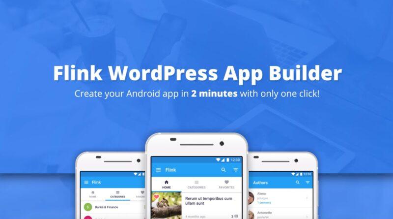 Flink WordPress App Builder