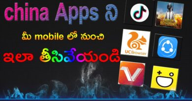 How to remove china apps from mobile in telugu | Remove china Android app | remove china app